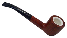 Carey Magic Inch Tiger Eye Meerschaum Lined Pipe - Quarter Bent Pot