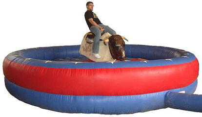 Mechanical Bull with Inflatable Base