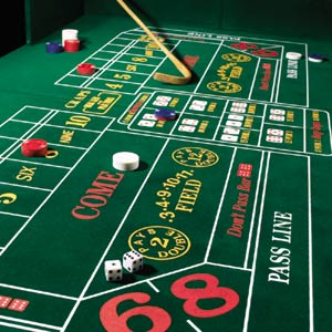 Casino Game Craps Table