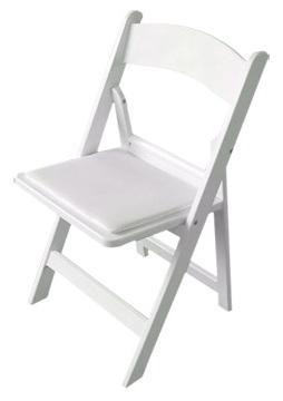 Padded Acrylic White Wedding Folding Chair