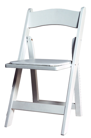 Padded White Wooden Wedding Folding Chair