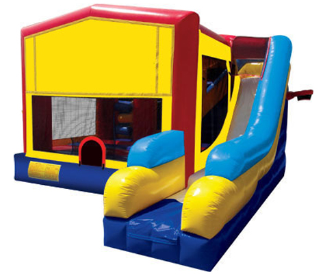 4 in 1 Module Bounce House with Slide