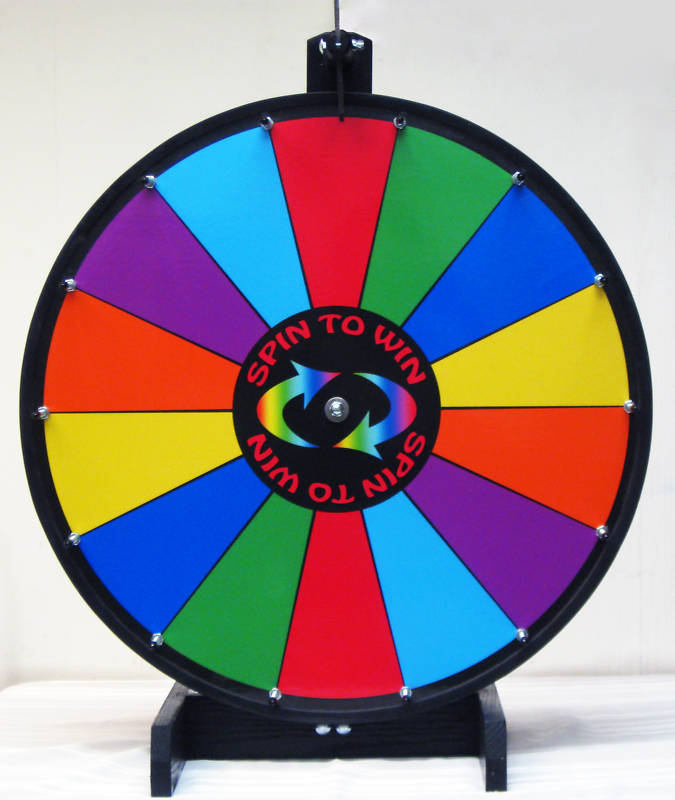 prize wheel, 24in color dry erase spinning wheel, Powerpoint templates