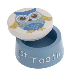 Ganz 1st Tooth Box - Baby's 1st Tooth Jar (Blue)