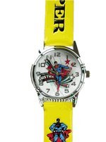 WB DC Superman leather band Watch - yellow