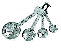Ganz Hearts Measuring Spoons - Set of 4 - Measuring Spoons