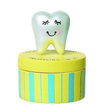 Ganz Tooth Fairy Treasure Box Yellow with Blue Stripes (1box)