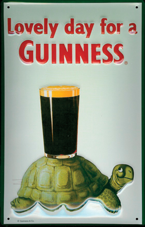 Guinness Lovely Day Turtle Pub Sign