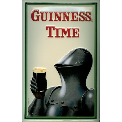 Guinness Time Knight Pub Sign