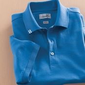 Ashworth EZ-Tech Jersey Textured Stripe Polo