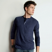 Canvas Long-Sleeve Henley