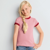 Bella Girls' Heather Ringer T-Shirt