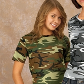 Code V Youth Camouflage T-Shirt