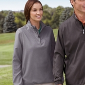 Ashworth Ladies' Houndstooth Half-Zip Jacket