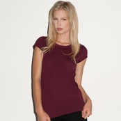 Bella Ladies' Sheer Ribbed T-Shirt