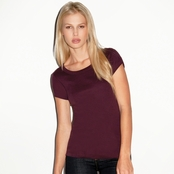 Bella Ladies' 1x1 Baby Ribbed Scoop Neck T-Shirt