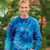 Tie-Dye 100% Cotton Long-Sleeve Tie-Dyed T-Shirt