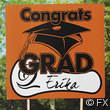 "Cardboard ""Congrats Grad"" Yard Signs - Orange"