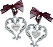 Pewter Heart Ornament Grandma Your Always In My Heart Gift Boxed