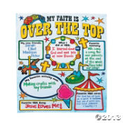 "Paper Color Your Own All About ""Over The Top"" VBS Poster"