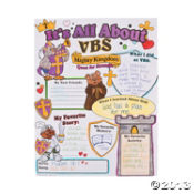 "Paper Color Your Own All About ""Mighty Kingdom"" VBS Poster"