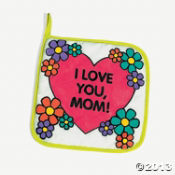 "Canvas Color Your Own ""Mom"" Pot Holder"