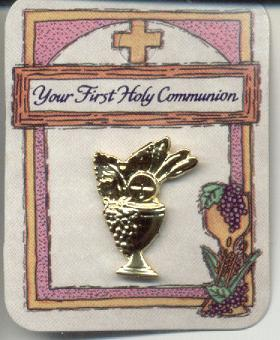 Your First Holy Communion  Gold Plated Lapel Pin