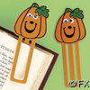 Plastic Pumpkin Face Wiggle Eye Bookmark