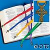 Ribbon Bookmark with Cross Charm