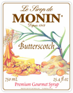 Monin Butterscotch Syrup 750ml