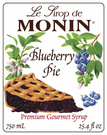 Monin Blueberry Pie Syrup 750ml