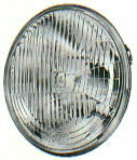 """Hella H4 Headlamp Replacement w/ Colored Bulb - 7"""" Round"""
