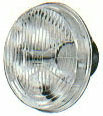 """Hella H4 Headlamp Replacement w/ 100/80 Yellow Gold Bulb - 5 ¾"""" Round"""