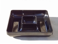Melamine Chip & Dip Tray - Black