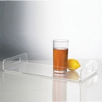 Medium Acrylic Serving Tray with Handles