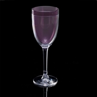 Insulated Double-Wall Thermal Plastic Wine Glass, 8 oz. - Purple