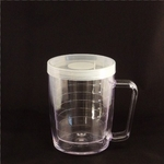 Insulated Unbreakable Plastic Thermal  Mug w/Lid - 18 oz.