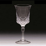 Acrylic Wine Glass, Cut Crystal - 10 Oz.