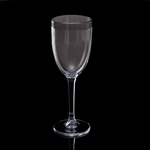 Insulated Double-Wall Thermal Plastic Wine Glass, 8 oz. - Gray