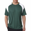 UltraClub Men's T-Shirt: Cool-N-Dry Sport Color Block (8399)