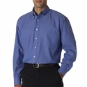 UltraClub Men's Dress Shirt: Long-Sleeve Performance Pinpoint (8360)