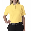 UltraClub Women's Polo Shirt: 100% Cotton Luxury Double Pique (8591)