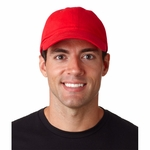 UltraClub Cap: 100% Cotton Classic Cut Brushed Twill Unconstructed (8111)