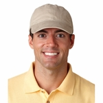 UltraClub Cap: 100% Cotton Classic Cut Solid-Color Heavy Brushed Twill Unconstructed (8116)