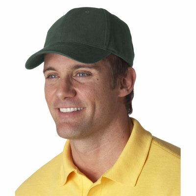 UltraClub Cap: 100% Cotton Classic Cut Brushed Twill Constructed (8110)