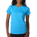 Anvil Women's T-Shirt: 100% Cotton V-Neck (652)