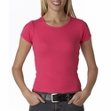 Anvil Women's T-Shirt: 100% Cotton Ringspun 1x1 Ribbed Scoop Neck (1441)