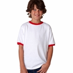 Anvil Youth T-Shirt: 100% Cotton Ringer (923B)
