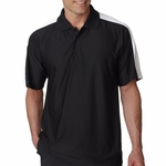 UltraClub Men's Polo Shirt: Cool-N-Dry Elite Performance with Shoulder Stripe (8416)