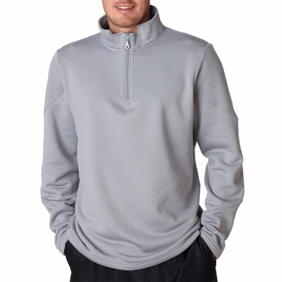UltraClub Men's Sweatshirt: Cool-N-Dry Sport 1/4-Zip Fleece (8440)